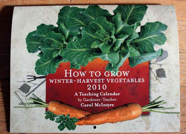 Design for Winter Harvest Vegetables Calendar