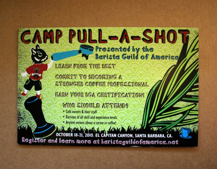Branding and booklet design for Barista Guild of America's Camp Pull a Shot