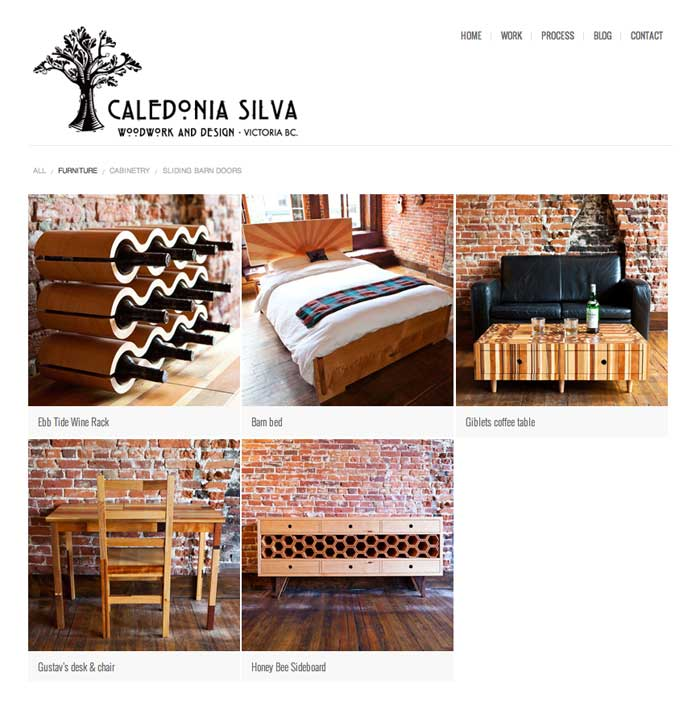 three column expandable custom furniture page