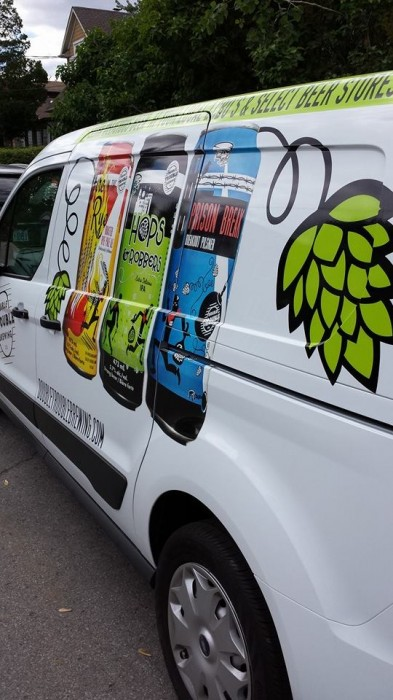 vehicle wrap for Double Trouble Brewing Co.'s van
