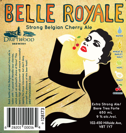 Design and Illustration for Driftwood Brewery's Belle Royale