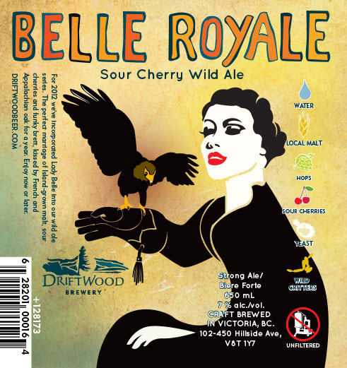 Design and Illustration for Driftwood Brewery's Belle Royale SOUR