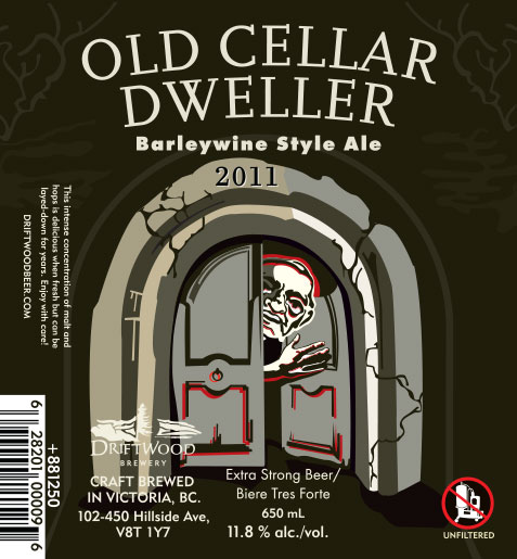 Design and Illustration for Driftwood Brewery's Old Cellar Dweller