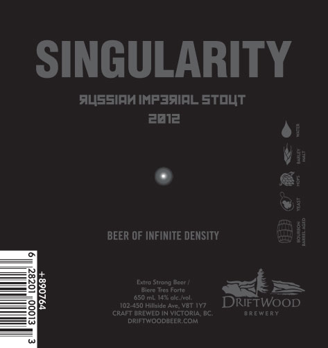Design and Illustration for Driftwood Brewery's Singularity Russian Imperial Stout