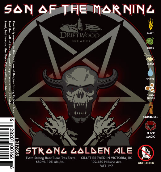 Design and Illustration for Driftwood Brewery's Son of the Morning strong golden ale