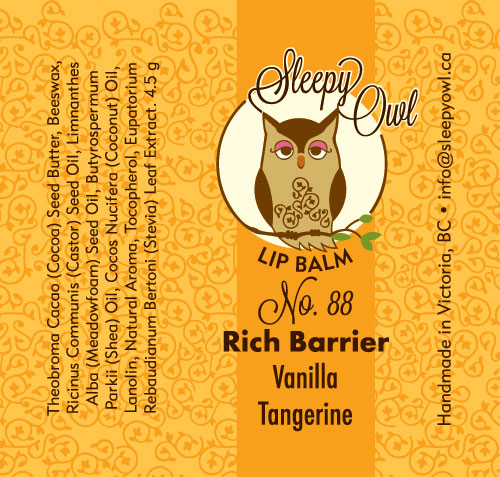 Logo and package design for Sleepy Owl Lip Balms