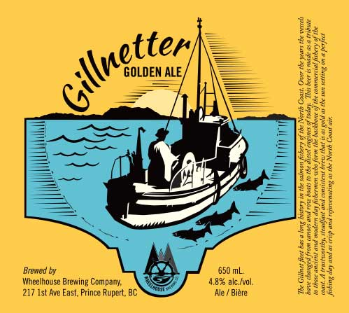 Label Design for Wheelhouse Brewing - gillnetter golden ale