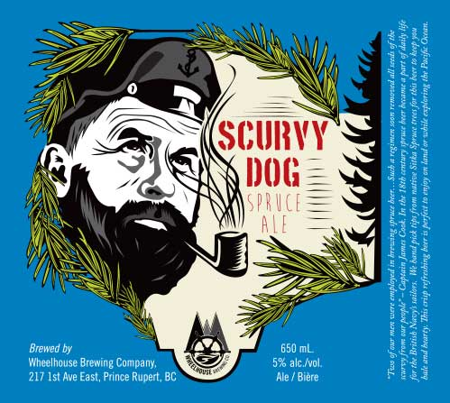 Label Design for Wheelhouse Brewing - scurvy dog