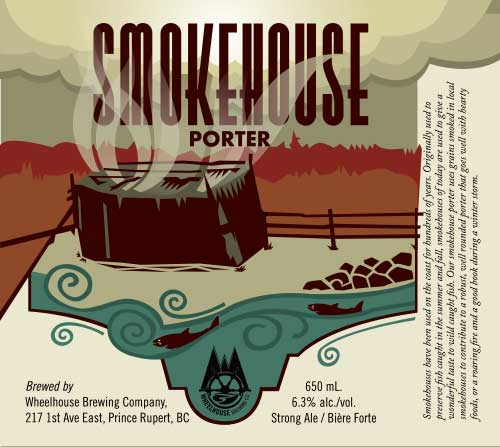 Label Design for Wheelhouse Brewing - smokehouse porter