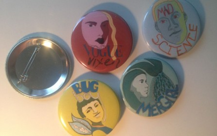 Drawing Week 51 – Superhero buttons for my nieces and nephews