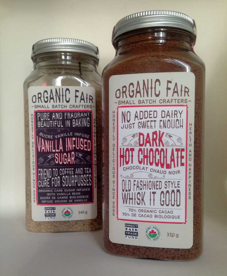 Design for Organic Fair's Dark Hot Chocolate and Vanilla Sugar