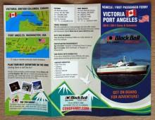 Schedule brochure design for Blackball Ferry