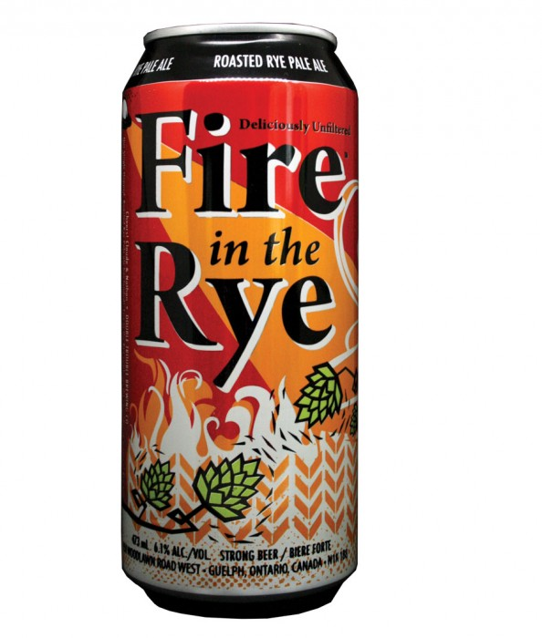 Design for Double Trouble Brewing Co's Fire in the Rye