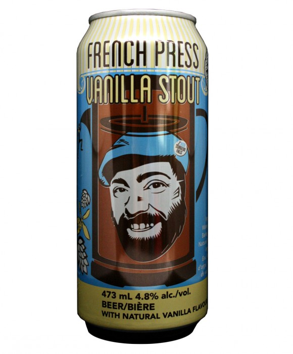 Design for Double Trouble Brewing Co's French Press Vanilla Stout