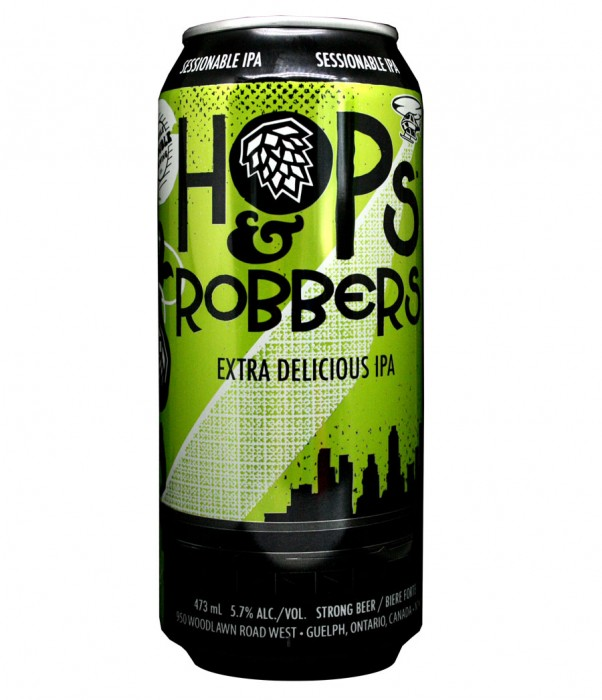 Design for Double Trouble Brewing Co's Hops and Robbers