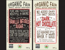 Package Design for Organic Fair's latest products