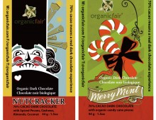 Design for Organic Fair's Holiday Chocolate Bars