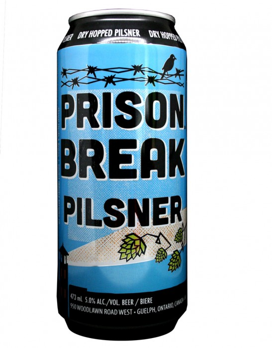 Design for Double Trouble Brewing Co's Prison Break Pilsner