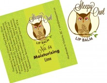 Design for Sleepy Owl Lip Balms