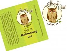 Design for Sleepy Owl Lip Balms