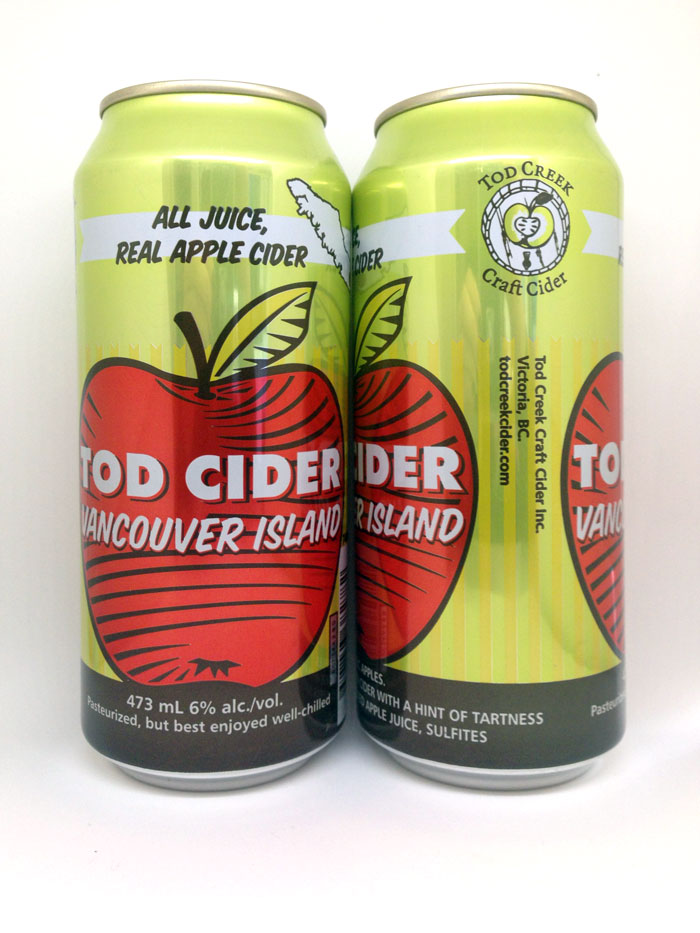 Tod Creek Craft Cider, 473 mL can