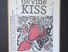 Linocut label design for deVine Spirits Vodka