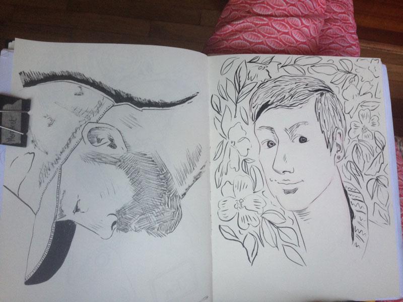 Margaret Hanson - initial sketch