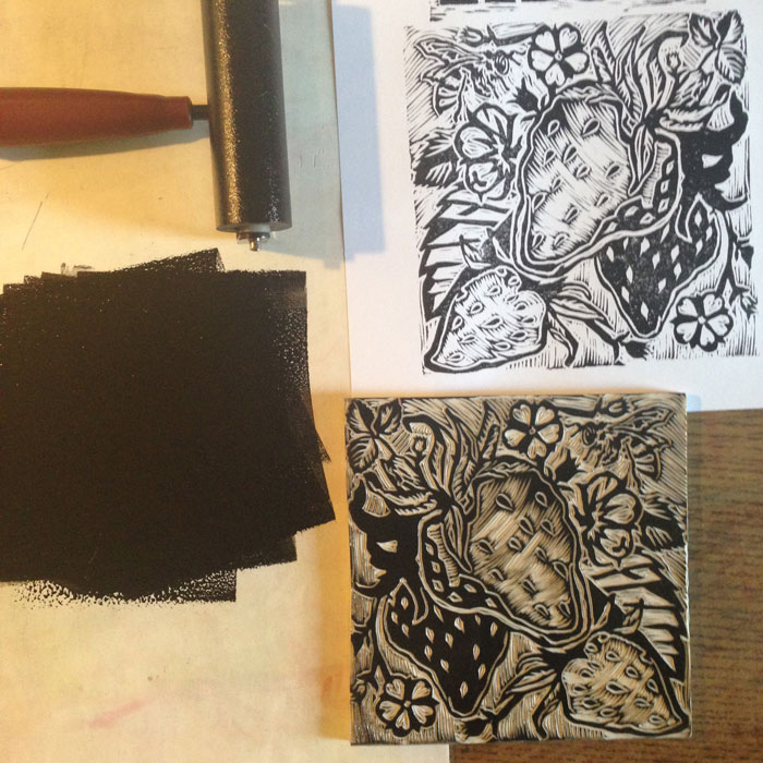 Linocut Illustrations for deVine Spirits