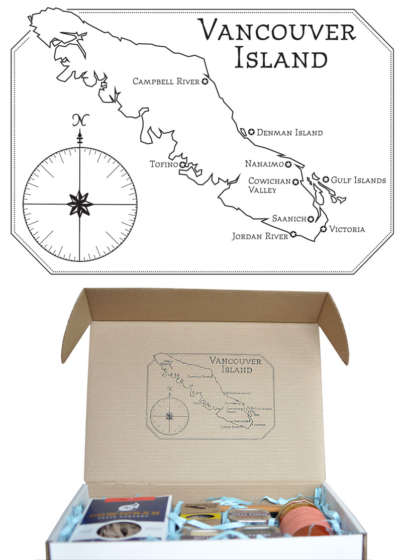 Map Design for Vancouver Island Gift Basket Co.