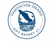 Logo and map design for Vancouver Island Gift Basket Co.