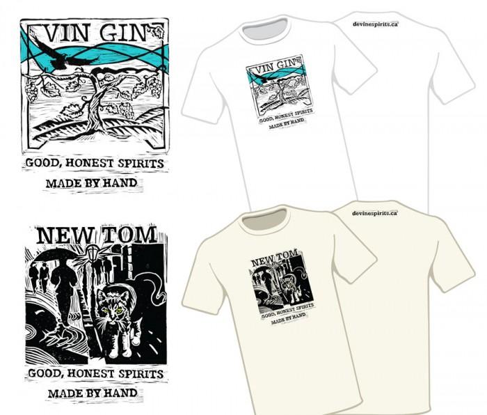 Label Design for deVine Spirits - Screenprint tshirt designs