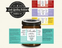 Graphic Design and packaging for SSI Candle Co's new line
