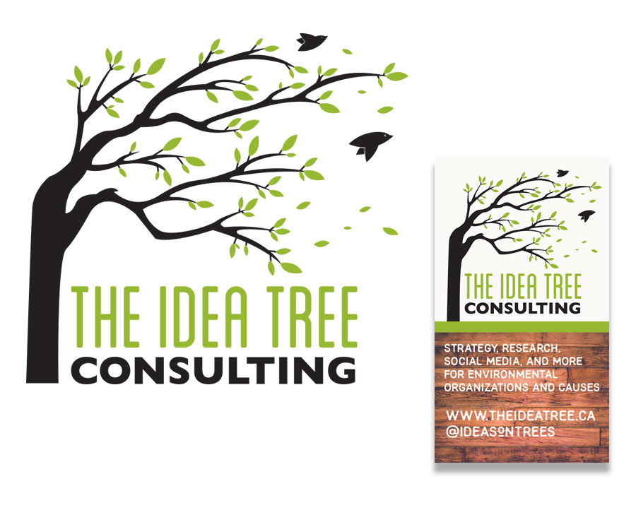 Logo design and business card mock up for The Idea Tree Consulting