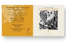 Print design for de Vine Wines & Spirits