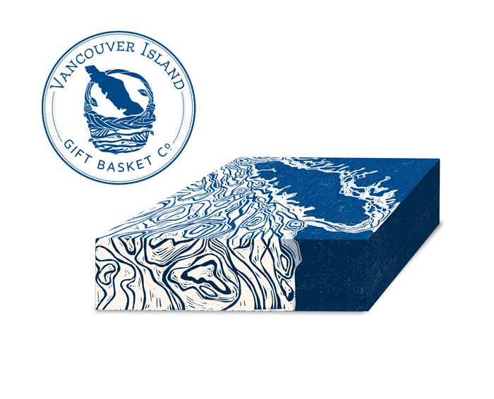 Vancouver Island Gift Basket Co. Linocut box wrap