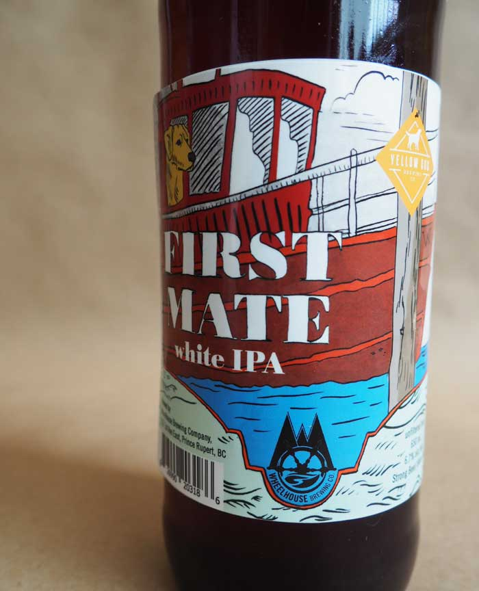 Design and illustration for First Mate White IPA for Wheelhouse Brewing Co.