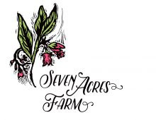 Linocut Logo Design for Seven Acres Farm