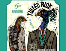 Event branding for Tweed Ride Victoria, 2016