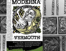 Label Design for Moderna Vermouth, deVine Wines & Spirits
