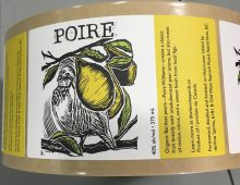 Design and Illustration for de Vine's Wine & Spirits Poire