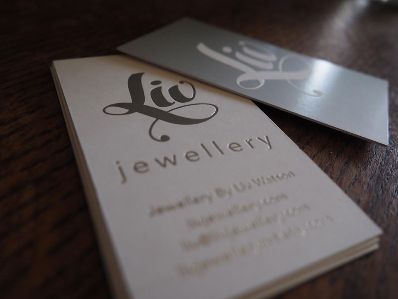 Logo and Business card design for Liv Jewellery