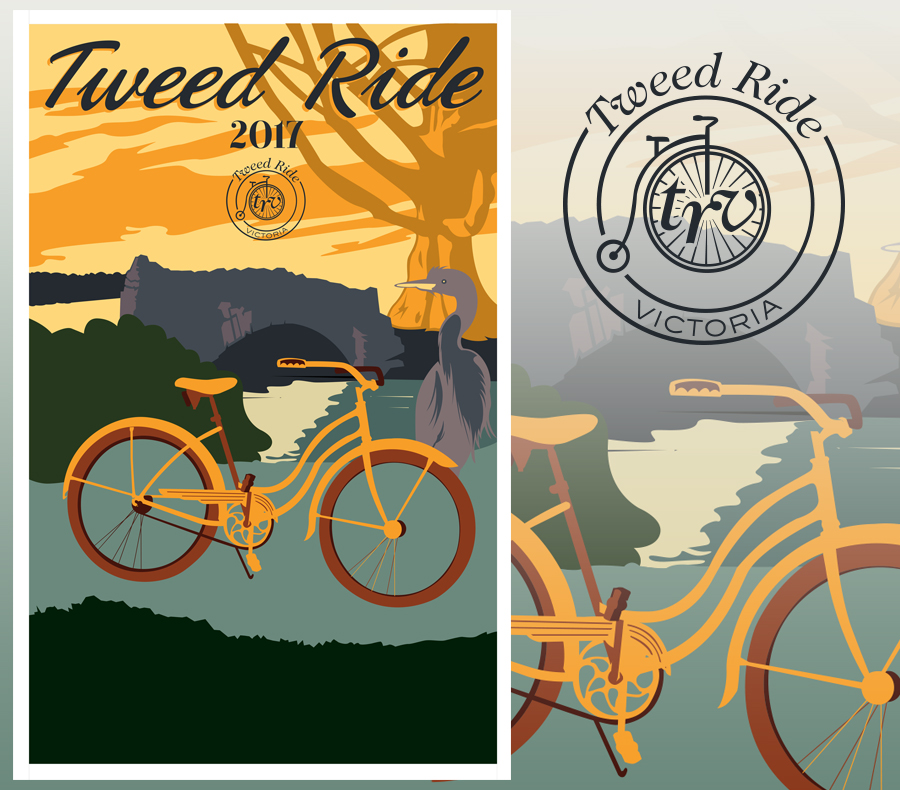 Graphic Design, Branding and Illustration for 2017's Tweed Ride Victoria