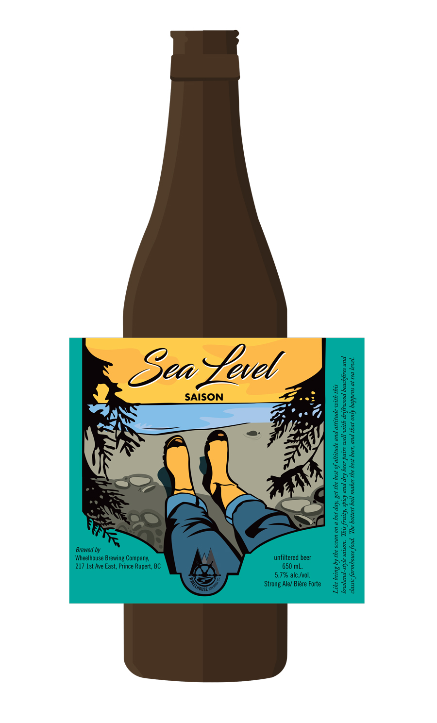 Design and Illustration for Wheelhouse Brewery's Sea Level Saison