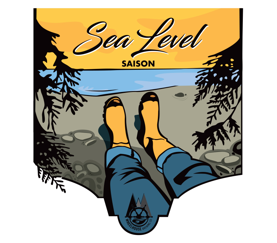Design and Illustration for Wheelhouse Brewing Co. Sea Level Saison