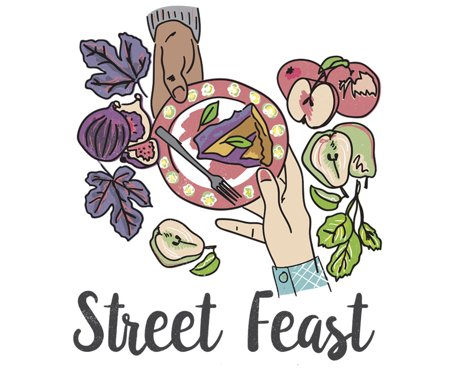 Street Feast poster illustration