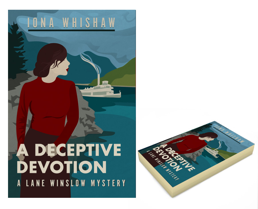 A Deceptive Devotion. Book cover design and illustration