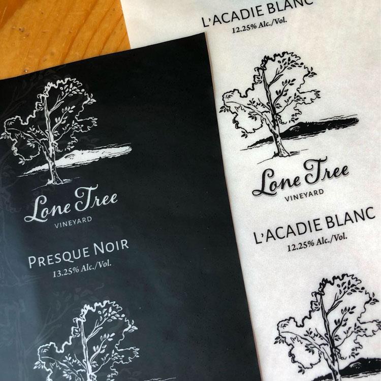 Logo Design for Lone Tree Vineyard