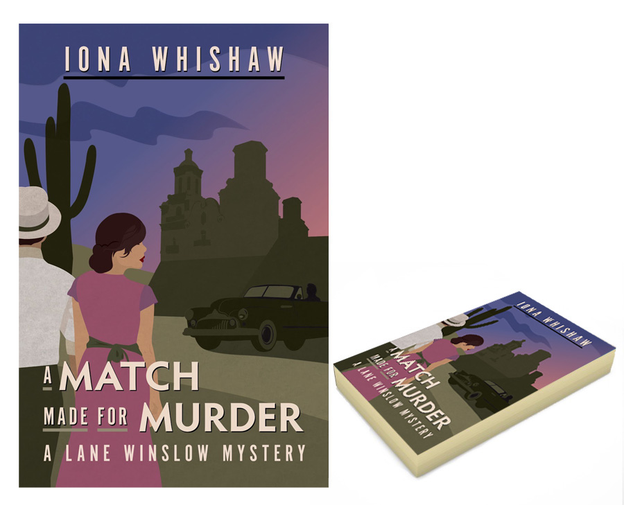 A Match Made for Murder, book cover illustration and design
