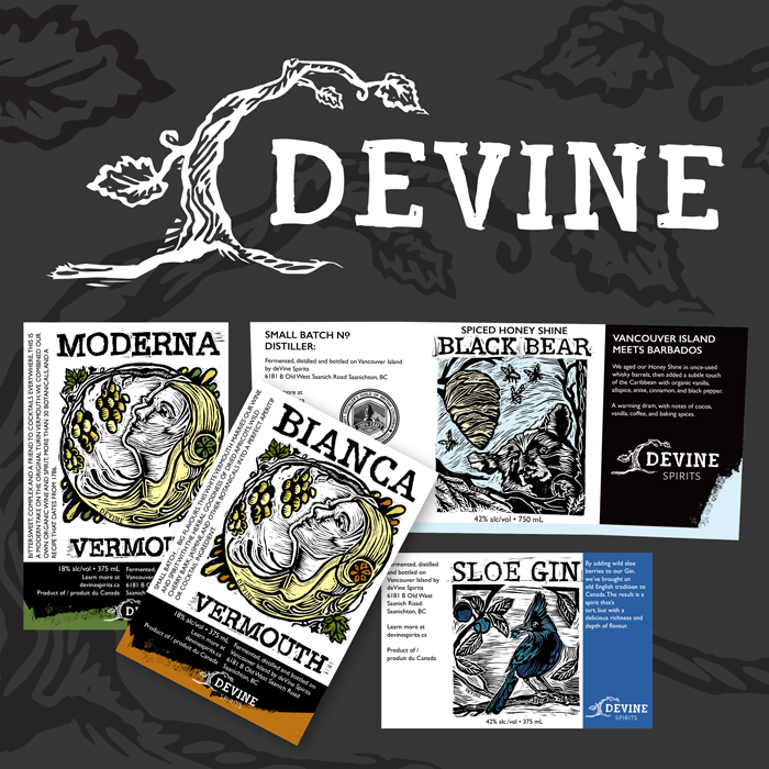 Brand update for Devine Distillery and Winery