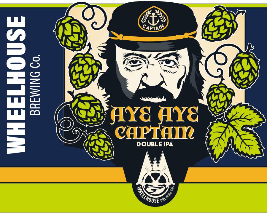 Aye Aye Captain beer label design